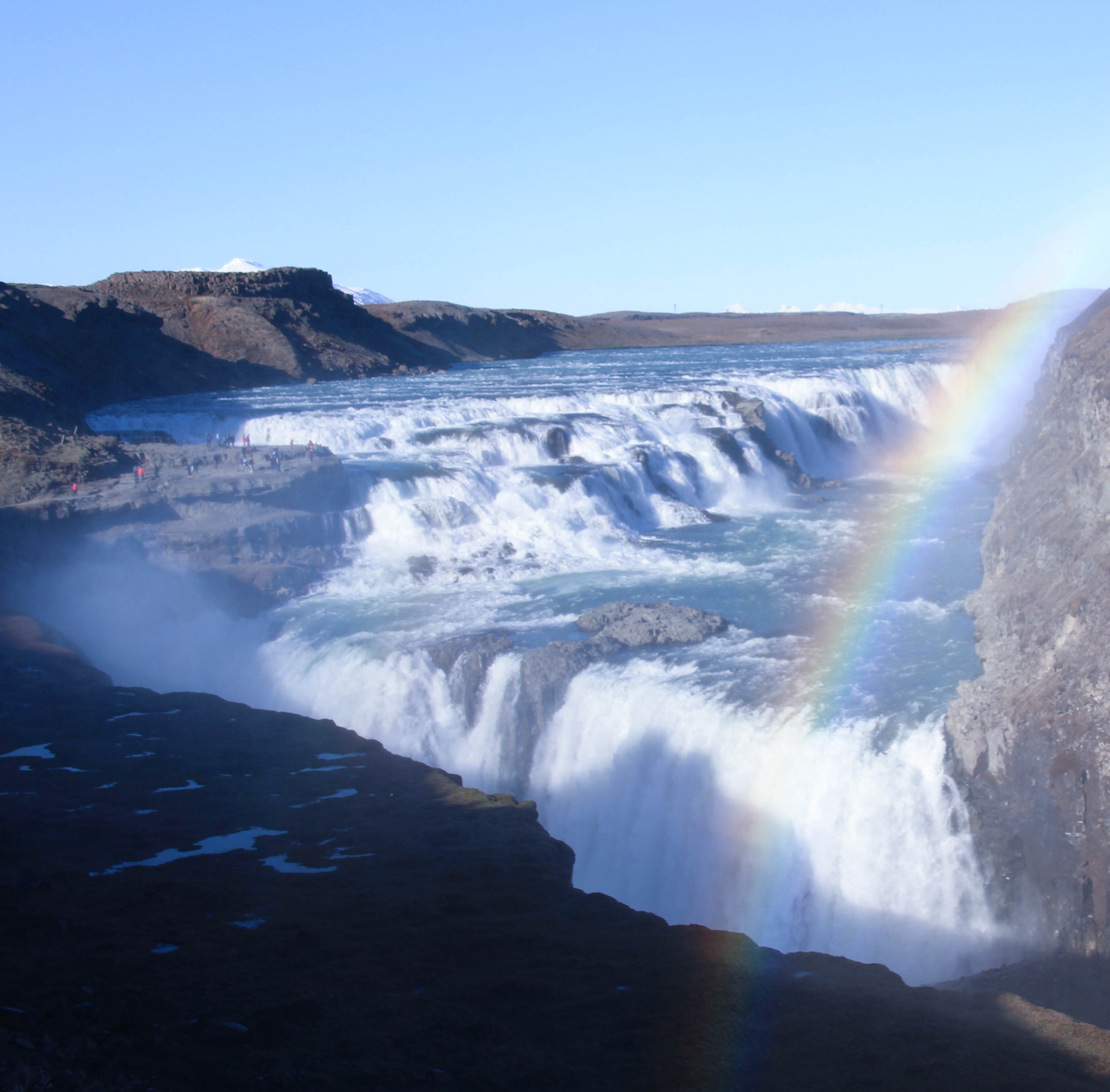 evening view of Gullfoss